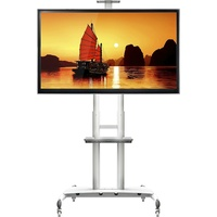 Steel Mobile TV Cart AVA1800-70-1P WHITE first thumb image