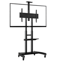 Steel Mobile TV Cart AVA1800-70-1P - Black first thumb image