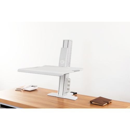 NB New Product Sit Stand Clamp on Notebook Riser BT25 - White