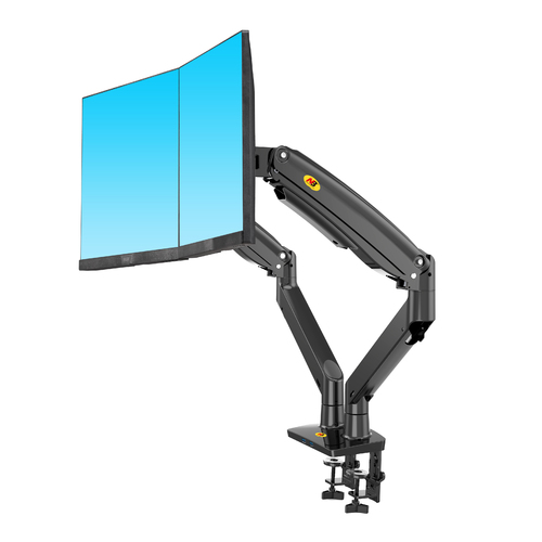 F195 Dual Screen Desktop Monitor Mount Black