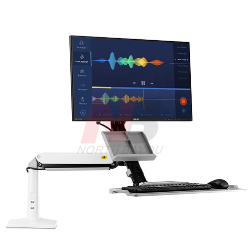 FC35-W Sit/Stand Desk Mount - White